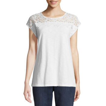 Only Lace T-shirt Women White