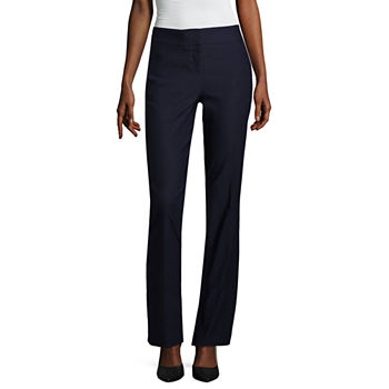 Worthington Seamed Slim Leg Womens Mid Rise Slim Pant