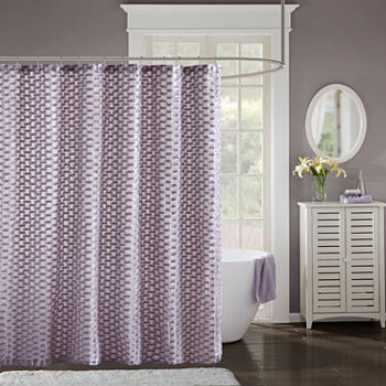 purple and gray shower curtain.  Purple Shower Curtains For Bed Bath JCPenney