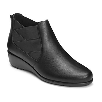 a51290abc455 A2 by Aerosoles Womens Domain Slip-on Closed Toe Stacked Heel Pumps. Add To  Cart. Black.  37.49