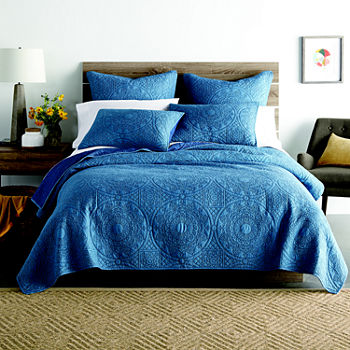 Blue Quilts Bedspreads For Bed Bath Jcpenney