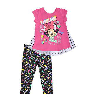 Disney Baby Girls Minnie Mouse 2-pc. Pant Set