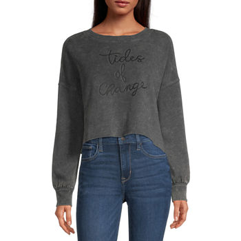 Flirtitude Juniors Cropped Sweatshirt