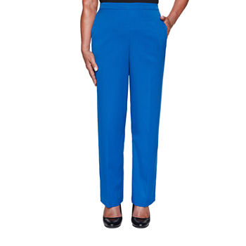 Alfred Dunner Vacation Mode Womens Straight Pull-On Pants