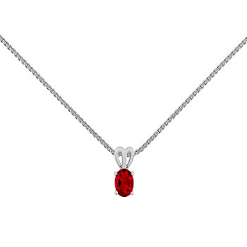 Ruby pendant necklaces closeouts for clearance jcpenney aloadofball Gallery