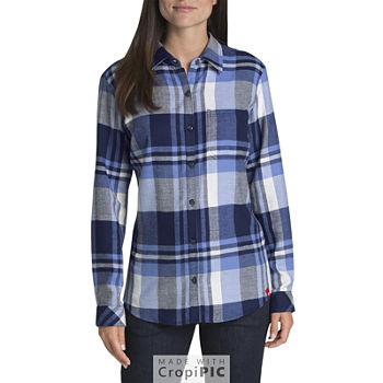 33178712389ba Flannel Shirts Tops for Women - JCPenney