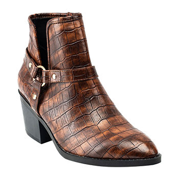 GC Shoes Womens Dover Block Heel Booties