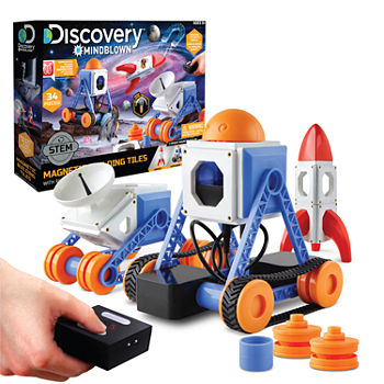 Discovery #MINDBLOWN Magnetic Building Tiles with Remote Control