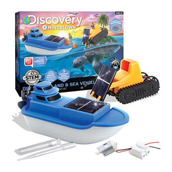 Discovery #MINDBLOWN Kid's DIY Solar Land and Sea Vehicles