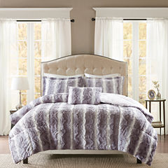 Madison Park Zuri Faux Fur Comforter Set