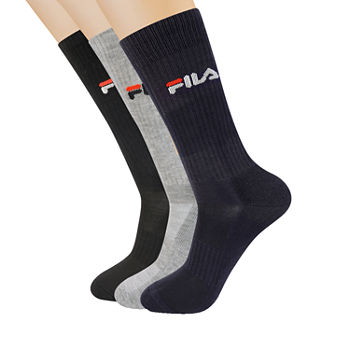 Fila Mens 3 Pair Crew Socks