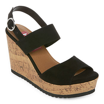 6a23202fdea Pop Womens Avon Wedge Sandals. Add To Cart. Black.  27.99
