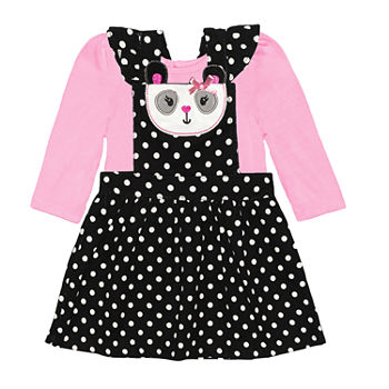 Nannette Baby Girls Long Sleeve Dress Set