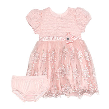 Nannette Baby Baby Girls Short Sleeve Dress Set