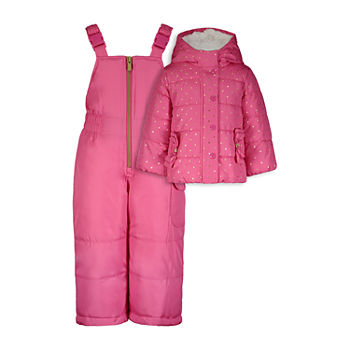 Carter's Baby Girls Heavyweight Dots Snow Suit