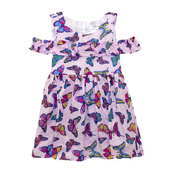 Nannette Baby Toddler Girls Short Sleeve Animal A-Line Dress