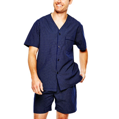 stafford broadcloth pajama set - Mens Bathrobes