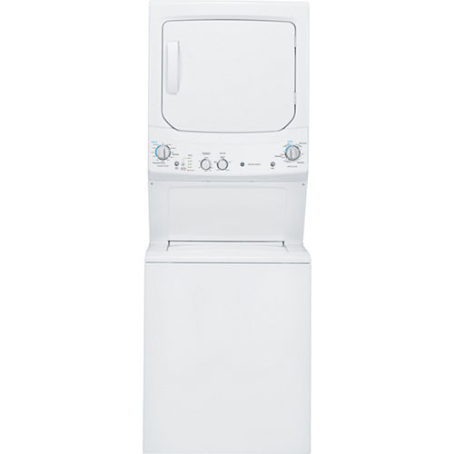 GE® Unitized Spacemaker® 3.2 DOE Cu. Ft. Washer and 5.9 Cu. Ft. Gas Dryer