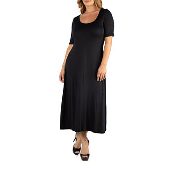 24/7 Comfort Apparel Casual Maxi Dress - Plus
