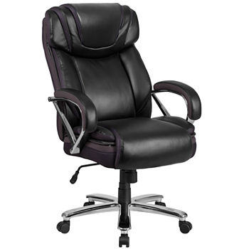Astonishing Hercules Series Big Tall 500 Lb Rated Leather Executive Swivel Chair With Extra Wide Seat Pdpeps Interior Chair Design Pdpepsorg