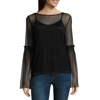 Misses Size Shirts Tops Tops For Juniors Jcpenney