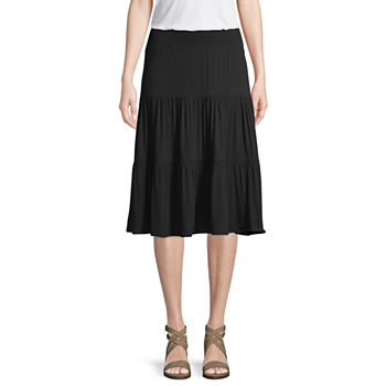dd5b8f380e6f Mid Length Black Skirts for Women - JCPenney