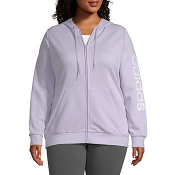 adidas Womens Hooded Neck Long Sleeve Hoodie Plus