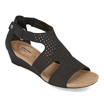 St. John's Bay Womens Newcastle Wedge Sandals