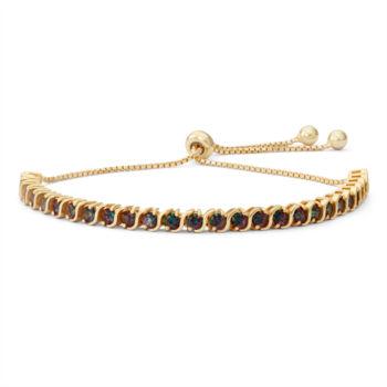 Fine Jewelry Womens Greater Than 6 CT. T.W. Blue Aquamarine 14K Gold Over Silver Bolo Bracelet XTCGBL