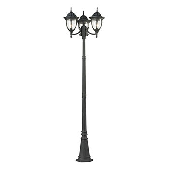 Post lights outdoor lighting lighting lamps for the home jcpenney central square 3 light outdoor post lamp in textured matte black workwithnaturefo