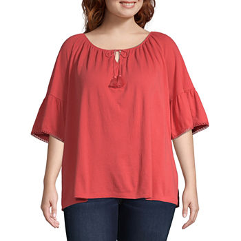 e0f60a28f6d3f3 CLEARANCE Plus Size Tops for Women - JCPenney