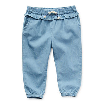 Okie Dokie Baby Girls Cinched Pull-On Pants