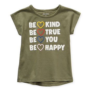 Okie Dokie Toddler Girls Round Neck Short Sleeve Graphic T-Shirt