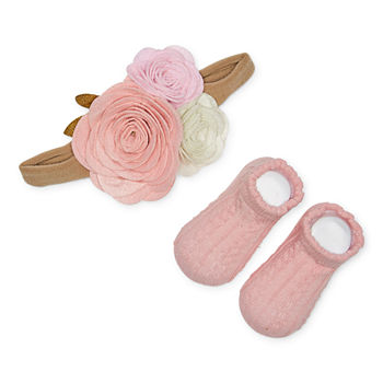 Wendy Bellissimo Baby 1 Pair Baby Booties & Headband