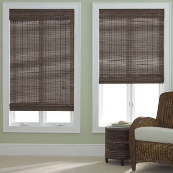 Jcpenney Home Bamboo Woven Wood Roman Shade