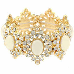 Monet Jewelry Womens White Stretch Bracelet