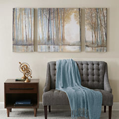 Madison Park Forest Reflections With Roll Gel Coat 3-pc. Canvas Art