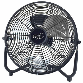 "Vie Air 12"" High Velocity All Metal Tilting 3 Speed Floor Fan"