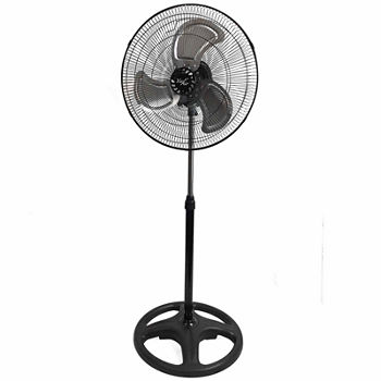 "Vie Air 18"" Industrial Heavy Duty Pedestal Oscillating Metal Stand Fan"