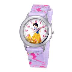 Disney Snow White Kids Multicolor Nylon Strap Watch