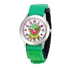 Disney Kermit the Frog Kids Green Nylon Strap Watch