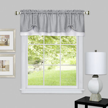 Darcy Rod-Pocket Tailored Valance