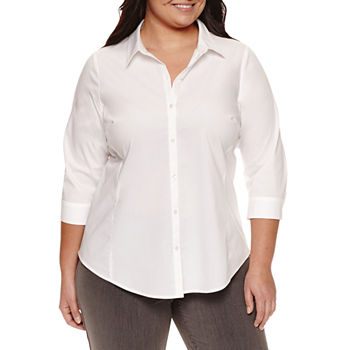 Button-front Shirts Tops for Women - JCPenney