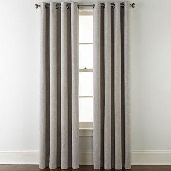 Jcpenney Home Sullivan Blackout Grommet Top Single Curtain Panel