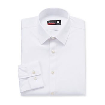 JF J.Ferrar Mens 4-Way Stretch Performance Long Sleeve Slim Dress Shirt
