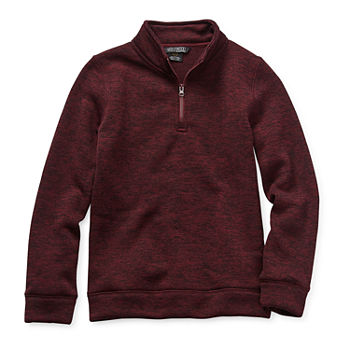 Hollywood Little Boys Mock Neck Long Sleeve Pullover Sweater