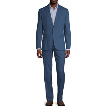 JF J. Ferrar Ultra Mid Blue Dogbone Slim Fit Suit Separates