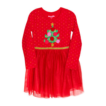 Nannette Baby Toddler Girls Long Sleeve A-Line Dress