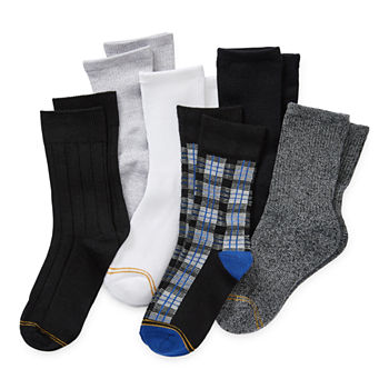 Gold Toe Big Boys 6 Pair Crew Socks
