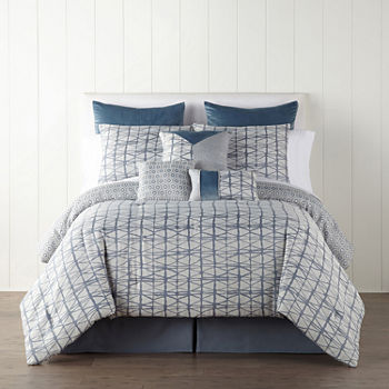JCPenney Home Springfield 7-pc. Jacquard Midweight Comforter Set